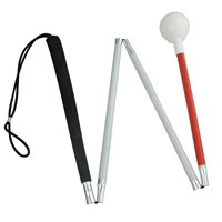 4-Section Alum Folding Cane with Rolling Tip 44-in