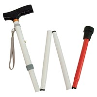 Adjustable Folding Support Cane f-t Blind 37-40-in