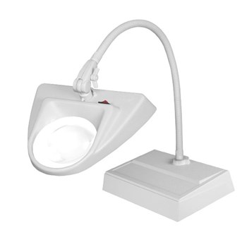 Dazor 30-Inch Hi-Lighting Desk Base LED Magnifier 3D 1.75X - Grey