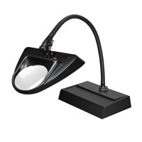 Dazor 30-Inch Hi-Lighting Desk Base Magnifier 5-Diopter 2.25X - Black