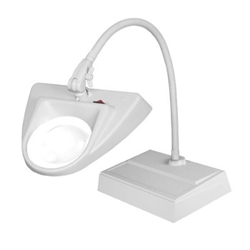 Dazor ESD Safe Hi-Lighting Desk Base LED Magnifier 3D 1.75X - Grey