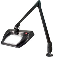 Dazor Stretchview 42-Inch Clamp Base LED Magnifier 3D 1.75X - Black