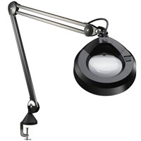 KFM Magnifier Lamp- 45-in Arm- 5 Diopter 2.25x - Black