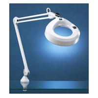 KFM Magnifier Lamp- 45-in Arm- 5 Diopter 2.25x - Grey