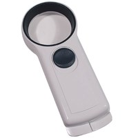 EZOptix 6x 50mm Handheld Illuminated Pocket Magnifier with LED Light