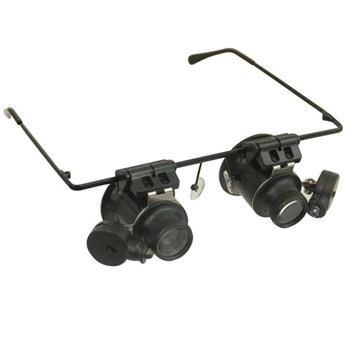 Hands-Free LED Illuminated 20x Loupe Magnifiers