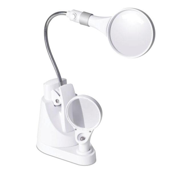 OttLite LED Clip And Freestanding Magnifier Lamp