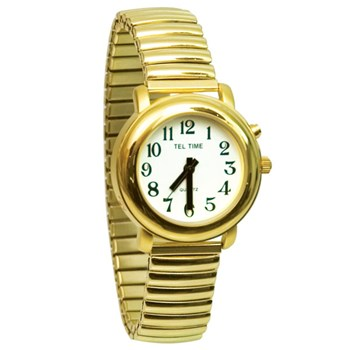 Ladies Gold-Tone One Button Talking Watch