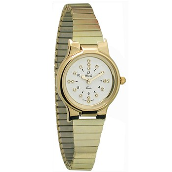 Ladies Gold-Tone President Quartz Braille Watch with Gold-Tone Expansion Band