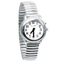 Ladies One Button Talking Watch- Chrome Expansion
