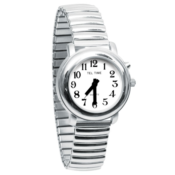 Maxiaids Ladies One Button Talking Watch Chrome Expansion