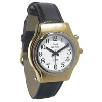 Mens Royal Tel-Time One Button Talking Watch with Leather Band