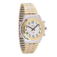 Mens Spanish Royal Tel-Time Bi-Color Talking Watch- Expansion Band