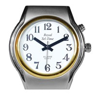 Mens Spanish Royal Tel-Time One Button Talking Watch with Leather Band
