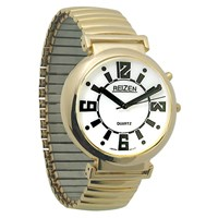 REIZEN Low Vision Watch White Face - Exp. Band