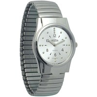 REIZEN Mens Braille Watch -Chrome, Exp. Band