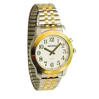 Talking Watch-Mens-2 Voices-Bi-Color-Expans Band