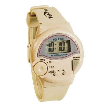Tel-Time IV Talking Watch - English - Unisex- Tan