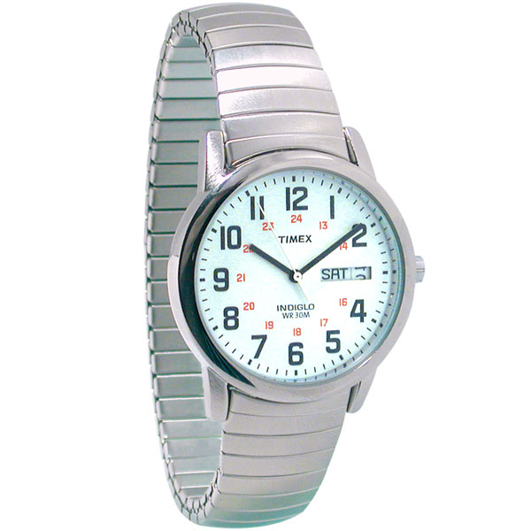 dce7c6e85 MaxiAids | Timex Mens Indiglo Low Vision Watch Exp Band