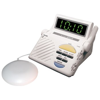 Sonic Alert Sonic Boom Alarm Clock with Bed Shaker SB1000SS