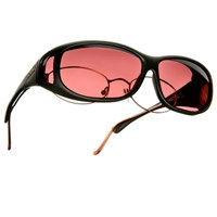 Cocoons Low Vision MS-Black Frame-Boysenberry Lens