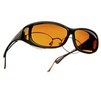Cocoons Low Vision MS-Black Frame-Hazelnut Lens
