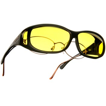 Cocoons Low Vision MS-Black Frame-Lemon Lens