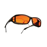 Cocoons Low Vision Wide Line ML Sunglasses-Black-Orange