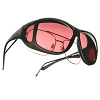 Cocoons Low Vision XL Aviator Black Fr-Boysenberry Lens