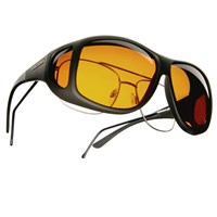 Cocoons Low Vision XL Aviator Black Fr-Hazelnut Lens