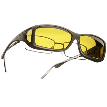 Cocoons ML Wide Line OveRx Sunwear-Sand Fr-Yellow Lens