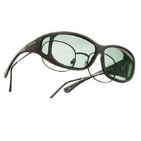 Cocoons MS Mini-Slim OveRx Sunwear-Black Fr-Gray Lens