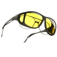 Cocoons XL Aviator OveRx Sunwear-Blk Fr-Yellow Lens