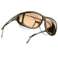 Cocoons XL Aviator OveRx Sunwear-Sand Fr-Amber Lens