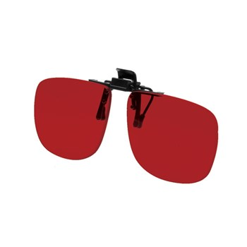 Noir Large Flip-Up Clip On Uv And Infrared 4 Percent Dark Red