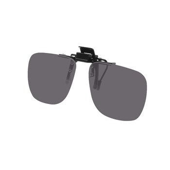 Noir Small Flip-Up Clip On Uv And Infrared 13 Percent Dark Grey