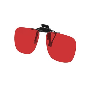 Noir Small Flip-Up Clip On Uv And Infrared 14 Percent Medium Red