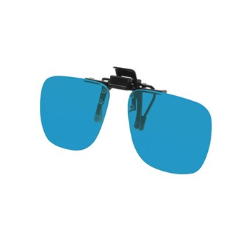 Noir Small Flip-Up Clip On Uv And Infrared 30 Percent Blue