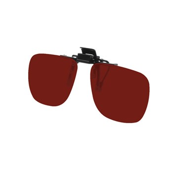 Noir Small Flip-Up Clip On Uv And Infrared 4 Percent Dark Red