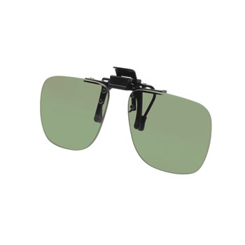 Noir Small Flip-Up Clip On Uv And Infrared 40 Percent Light Grey-Green