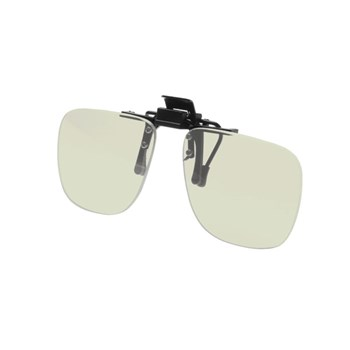 Noir Small Flip-Up Clip On Uv And Infrared 58 Percent Light Grey-Green