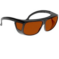 Noir Spectra Shields Large Adjustable -Fitover 35 Percent Amber-Orange