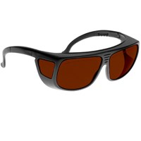 Noir Spectra Shields Large Adjustable -Fitover 4 Percent Dark Orange