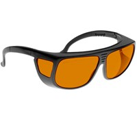 Noir Spectra Shields Large Adjustable -Fitover 49 Percent Orange