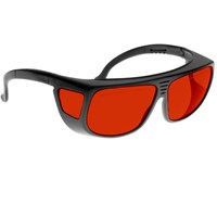 Noir Spectra Shields Large Adjustable -Fitover 52 Percent Red-Orange