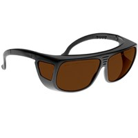 Noir Spectra Shields Medium Adjustable-Fitover 10 Percent Med Amber