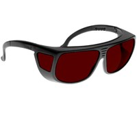 Noir Spectra Shields Medium Adjustable-Fitover 4 Percent Red