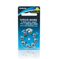 HearMore Hearing Aid Batteries- Size 10 -8-pk