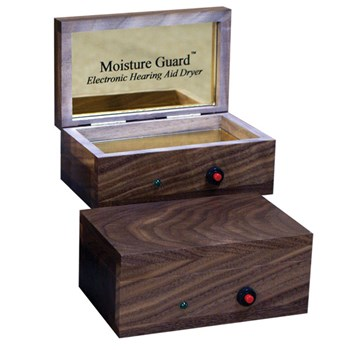 Moisture Guard Electronic Hearing Aid Dryer - American Black Walnut