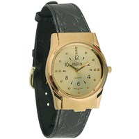 REIZEN Braille Watch -Gold-Tone, Leather band